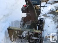 8.5 HP 27 inch Craftsman snowblower for sale. Runs