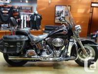A Heritage Softail with Vance & Hines pipes, 136,517