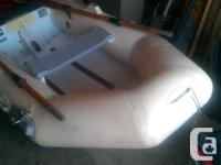 8 Foot Aluminum Bottom, Self-Bailing, Inflatable Boat.