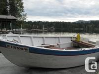 great little wooden boat. can hold a 4 hp motor. Has