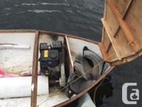 8 foot Fiberglass boat in shaft drivin with Johnson
