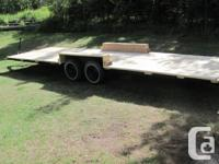 7 ft 7 inch wide x 26 ft long factory built tandem axle