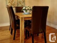 Great chairs for dining. There is wear and tear on the