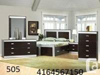 8 PC BRAND NEW BEDROOM SET AVAILAVLE IN MANY COLORS