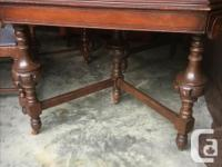 """tall buffet table. with leaf. 58"""" by 40"""" with 1- 12"""""""