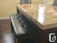 Like new 8 piece marble dining table set (October