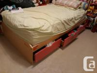 Total 8 pieces bedroom set including twin mattress,