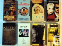 8 vintage VHS music video tapes Eurythmics, Sting,