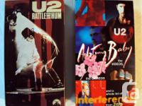 8 vintage VHS music video tapes U2, Michael Jackson,