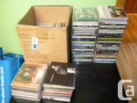 Have precisely 80 cds for sale-rock, blues, jazz music,