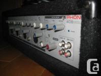 hello  im selling my beautiful 4 channel pa amp/mixer.