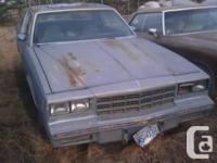 I am parting out an 81 Chevy Monte Carlo. It ran and