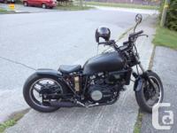 83 Honda saber 750cc v45 $2200 winter price bobber runs