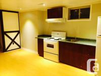 Newly renovated one bedroom basement apartment for rent