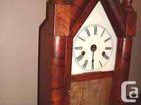 Antique WM. L. Gilbert and Company Steeple Clock circa