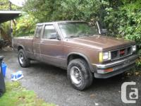 Make GMC Version Sonoma Club Year 1986 Colour brown for sale  British Columbia