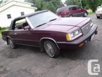 Make Dodge Model 600 Year 1986 Colour burguncy kms