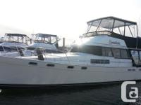 This well kept 38� Bayliner with a hard top on the