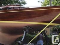 Seabird 1896 William Fife gaff rigged 39 feet sailboat.