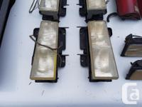 Headlight, marker light, and tail light lenses.