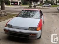 Make Honda Model CR-X Year 1988 Colour Red kms 300000