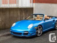2008 Porsche 911 Turbo Cabriolet Exterior : Blue Wrap