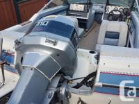 This boat is a 1989 17' Doral bowrider. It's in very