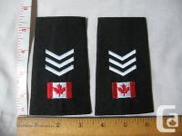 One pair of Canadian Flag with three chevrons