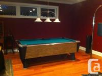 Really retro slate top bar pool table in fantastic