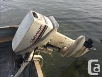 Johnson 9.9 HP boat motor (1984). Took it out for a rip