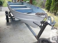 12' aluminum car-top boat on trailer. 9.9 Johnson 2