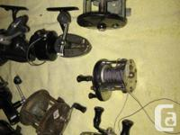 10 assorted fishing reels some work some for parts or