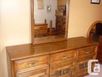 Sklar/Peppler 9 drawer triple dresser with large framed