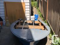9' FIBERGLASS BOAT (FISHING BOAT) with 2 attached