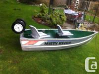 I'm selling my 9 foot Misty River, aluminum boat