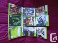 9 Xbox 360 games offered as a collection of 9 simply -