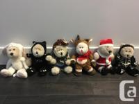 1990's Starbucks Bears Seasonal Collection of 6 bears