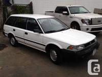 1991 Toyota corolla hatchback ,white mint low kms