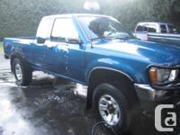 91 Toyota Pickup 4x4, 4cylinder, 377,000km, 22RE engine