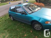 92 Honda Civic DX hatchback for parts Main crank bolt