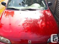 Make Honda Model Civic Year 1992 Colour Red kms 411000