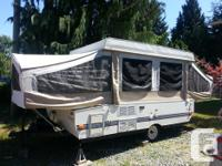94 fleetwood tent trailer, very large, queen as well as