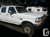 95 f350 crew cab for parts. Motor is shot and not