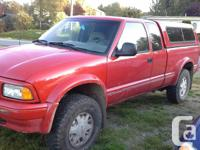 Make GMC Model Sonoma Year 1996 Colour Red kms 284000