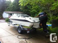 96 Sterling Bowrider (17 ft)with a Mercury 125(recently