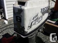 97 Honda 8 HP Outboard * Reliable, efficient 4-stroke