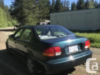 Make Honda Model Civic Year 1998 Colour green kms for sale  British Columbia