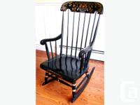 This Reproduction Boston Rocker (circa 1960) was made for sale  Quebec