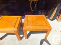 here's a pair of end tables with oak finish. (a few