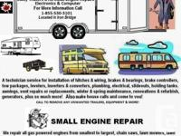 A service all technician for motor homes, travel